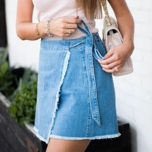 Madewell Denim Wrap Front Skirt